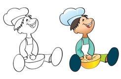 厨师一点 库存照片