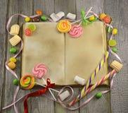 厨师书用糖果 免版税库存照片