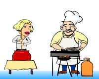 厨师二 库存图片