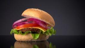 厨师做汉堡包 股票视频