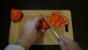 厨师切口甜椒沙拉 影视素材