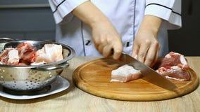厨师切生肉 股票录像