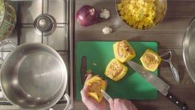 厨师删去南瓜籽的` s手 影视素材