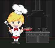 厨师动画片逗人喜爱的字符 免版税图库摄影