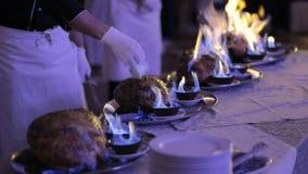 厨师厨师准备肉绵羊 影视素材