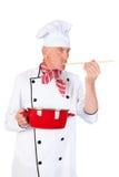 厨师口味食物 免版税图库摄影