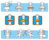 厨师图标 库存图片