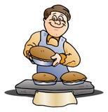 厨师在被隔绝的白色烘烤 皇族释放例证