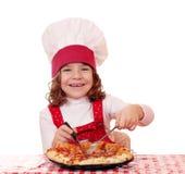 厨师女孩一点 库存图片