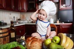 厨师婴儿 免版税库存图片