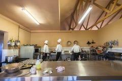 厨师学校厨房 库存图片