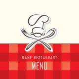 厨师帽子、叉子和匙子 免版税图库摄影