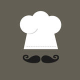 厨师帽子和颊须 库存图片
