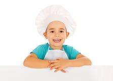 厨师广告牌 免版税库存图片