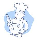 厨师扫 免版税库存图片