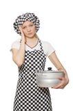 厨师查出的妇女 免版税库存照片