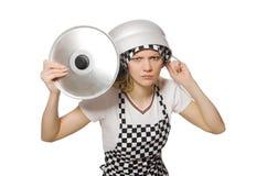厨师查出的妇女 免版税库存图片