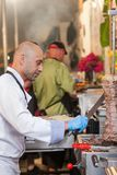厨师格栅的切口肉 免版税库存照片