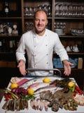 厨师海鲜餐馆分类概念 库存照片