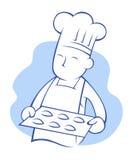 厨师烘烤曲奇饼 免版税库存图片