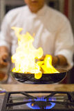 厨师烹调 图库摄影