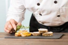厨师烹调 免版税图库摄影