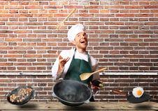 厨师烹调 免版税库存照片