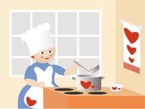 厨师爱 免版税库存图片