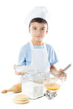 厨师男孩画象  库存照片