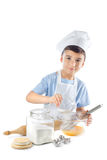 厨师男孩画象  免版税库存图片