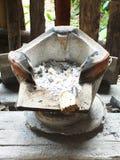 厨师的古老火炉 库存照片