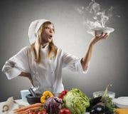 厨师的新的食谱 免版税库存图片
