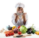 厨师的新的食谱 库存照片