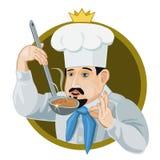 厨师的象国王 皇族释放例证