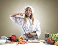 厨师的鲜美盘 免版税图库摄影