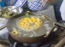 厨师种类点心在泰国 免版税库存图片
