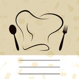 厨师菜单 免版税库存照片