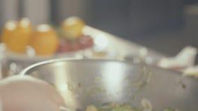 厨师虚构海草沙拉,关闭 影视素材