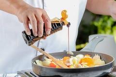 厨师调味料 免版税库存图片