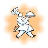 厨师走 免版税库存图片