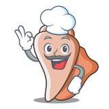 厨师逗人喜爱的壳字符动画片 免版税库存照片