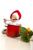 厨师婴孩 免版税库存图片