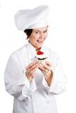 厨师-鲜美酥皮点心 库存图片