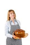 厨师crockpot 免版税图库摄影
