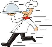 厨师runned 库存图片