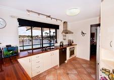 厨房俯视的池 库存照片