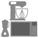 厨房元素剪影象被隔绝的 向量例证