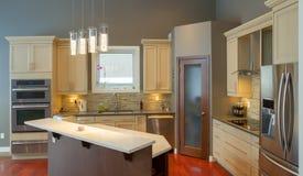 厨房内部装饰业 免版税库存图片