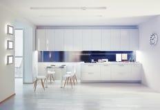 厨房内部 向量例证