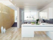 厨房内部 图库摄影